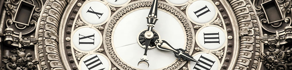 reloj de números romanos